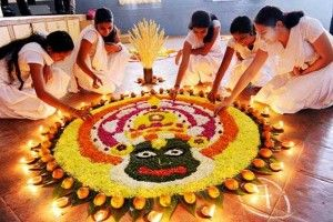Onam Pookalam is a traditional elaborate floral carpet that marks the days of the Onam celebration.