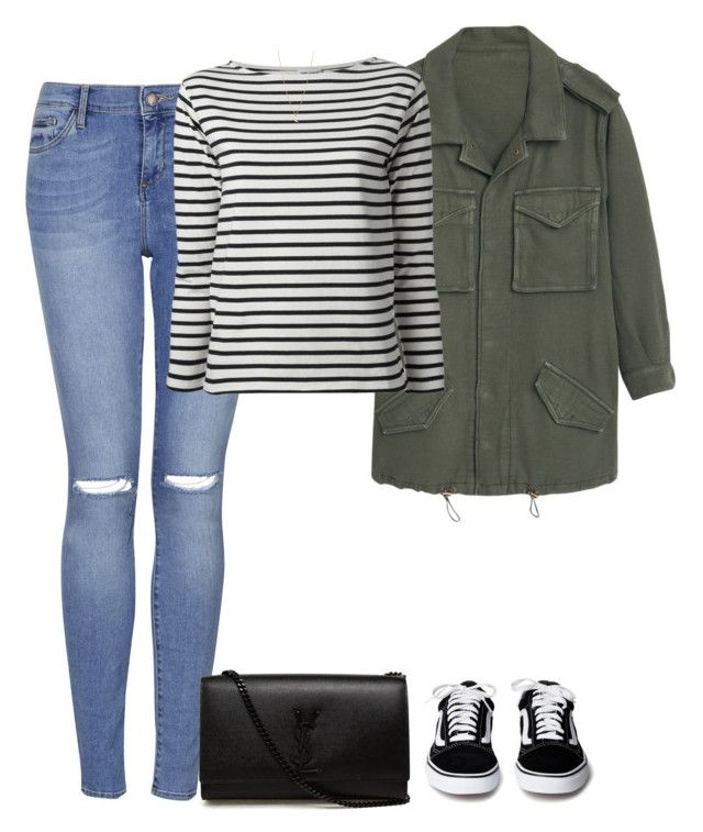 """""""Sans titre #1053"""" by nicolaisbae ❤ liked on Polyvore featuring Topshop, MANGO, Yves Saint Laurent and Minor Obsessions"""