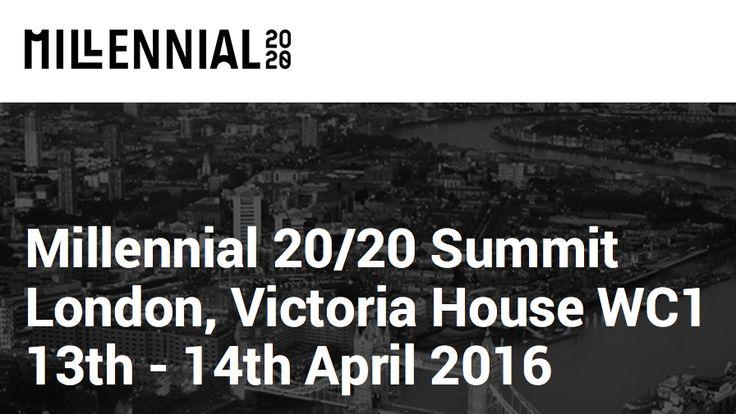 MILLENNIAL 20/20 - the World's First Millennial Business Summit   simply communicate