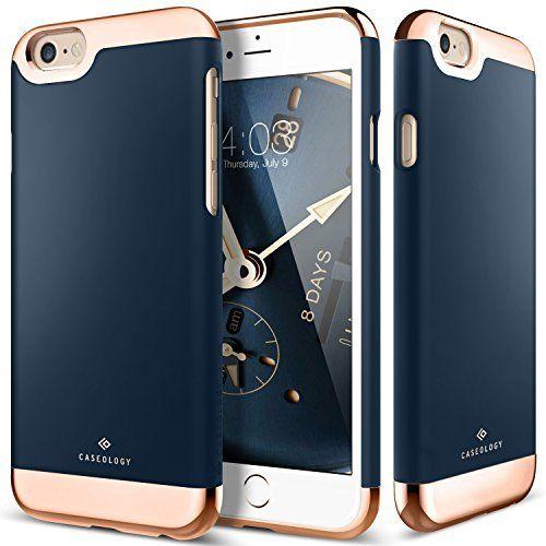 iPhone 6S Case, Caseology® [Savoy Series] [Navy Blue] Dual Layer Slider / Soft…