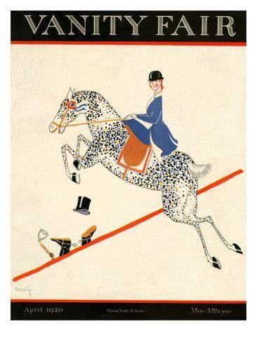Equestrian - Vanity Fair Vintage #Equestrian Cover, 1920