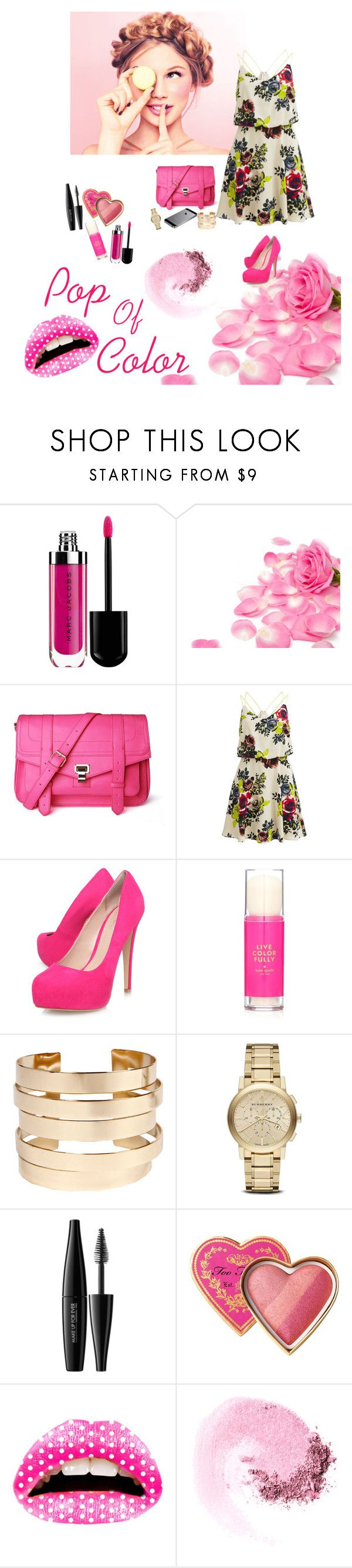 """Just For You..."" by pabalan-princess ❤ liked on Polyvore featuring beauty, Marc Jacobs, Vila Milano, Carvela Kurt Geiger, Kate Spade, Boohoo, Burberry, MAKE UP FOR EVER, Too Faced Cosmetics and Violent Lips"