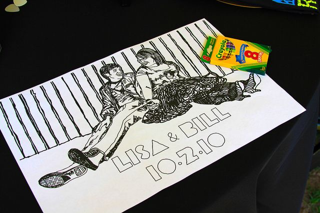 Create a coloring sheet placemat for the kids
