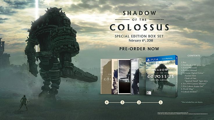 Shadow of the Colossus Game Cover PS4 Special Edition Box Set