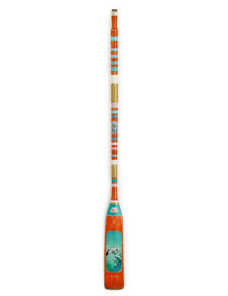 Leanne Culy Flamingo 2008 Wooden oar with Acrylic paint. $5,650.00