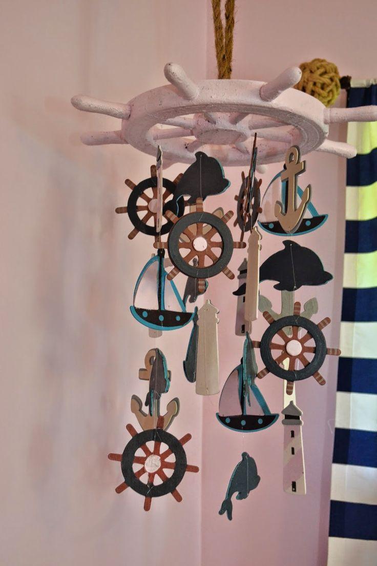 Manic Mama Miles: Nautical Nursery DIY Baby Mobile