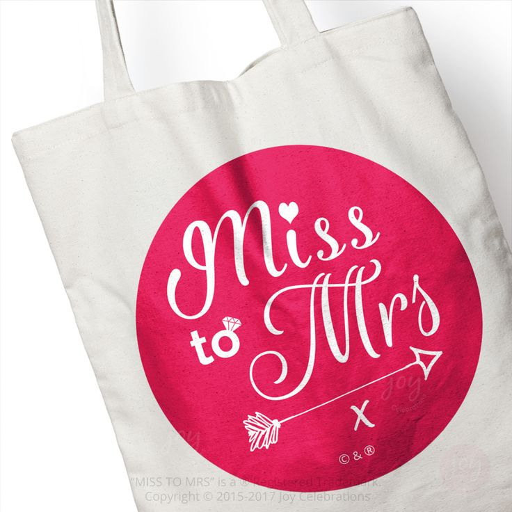 Cotton Tote Bag – Ideal as a Hen Do Party Gift Bag, a Goody Bag or as a day to day Shopping Bag for the Bride to Be.    #MissToMrs #Hen #Bride #HenDo #HenParty #BrideToBe #Engaged #Engagement #GettingMarried #Marriage #Wedding #JoyCelebrations