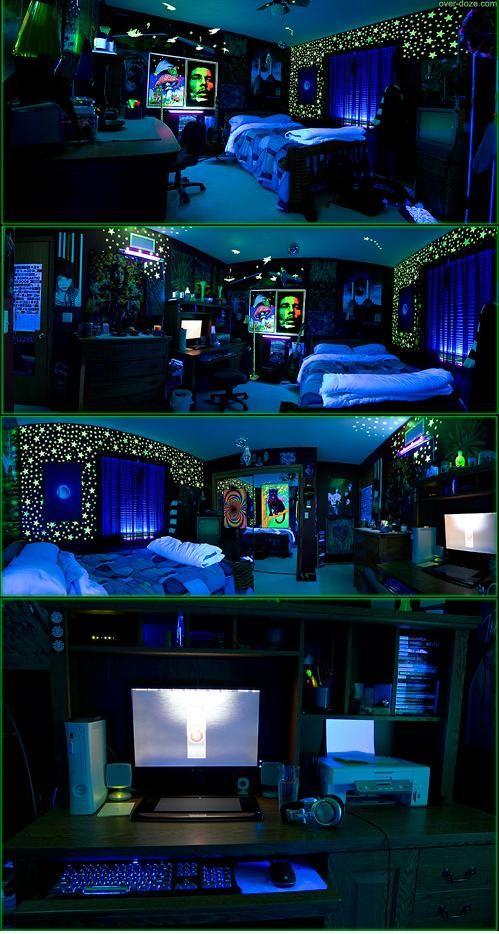 Blacklight String Lights Impressive 27 Best Blacklight Bedroom Images On Pinterest  Birthday Party Decorating Inspiration