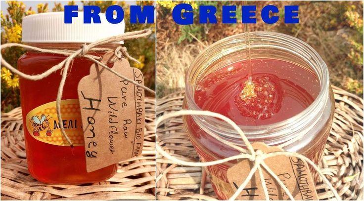 Raw Unprocessed Honey Wildflower Pure Natural from greek Mountain Fields 1 Kg #SAMOTHRAKIBIOFARM