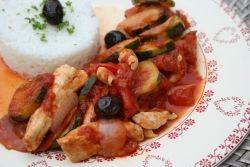 poulet aux olives et au chorizo