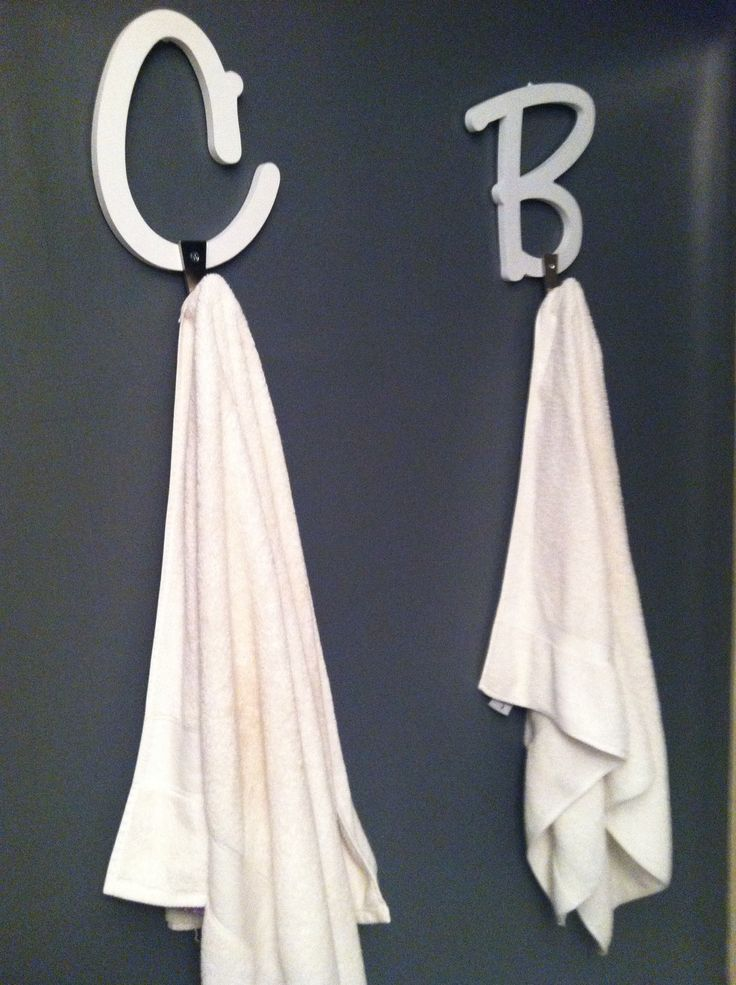 Wood Letters From Michaels Hooks From Ikea Perfect Towel