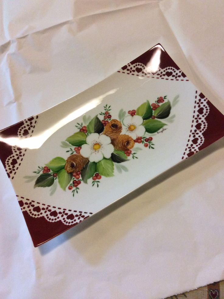 Christmas plate by Angela Davies