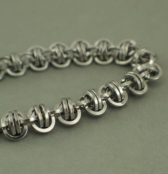 Square Aluminum Barrel Weave Chainmaille