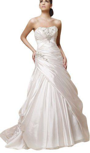 DAPENE Woman lady Taffeta Trumpet Bridal Ball « Dress Adds Everyday