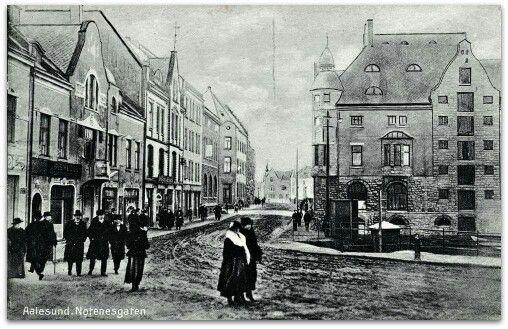 Aalesund Norenesgaten tidl. 1900-taller