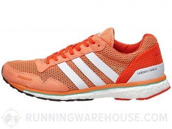 adidas adizero adios Boost 3 Women's Shoes Orange/White