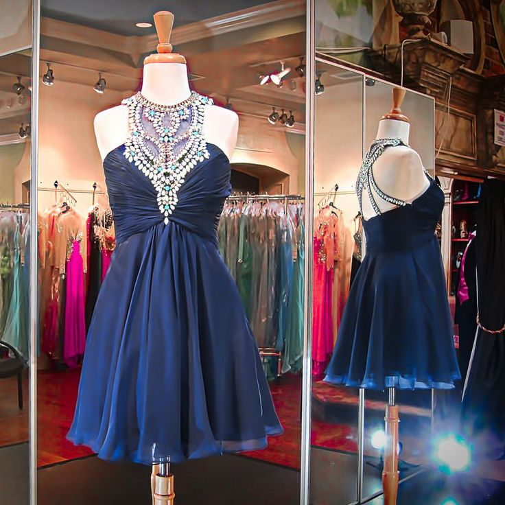 Homecoming Dresses Short Prom Dresses,Navy Blue Homecoming Dresses,Sparkly