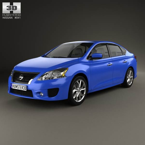 Nissan Sentra SR 2013 3d model from humster3d.com. Price: $75