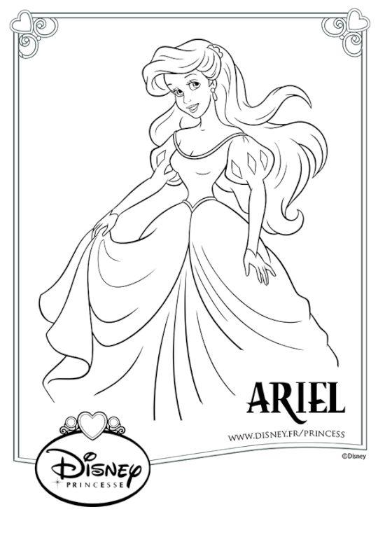 Coloriage ariel en robe