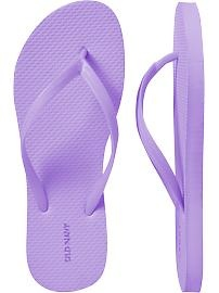 I have every shade of Old Navy's basic flip flop. Love to wear them with jeans and a t-shirt