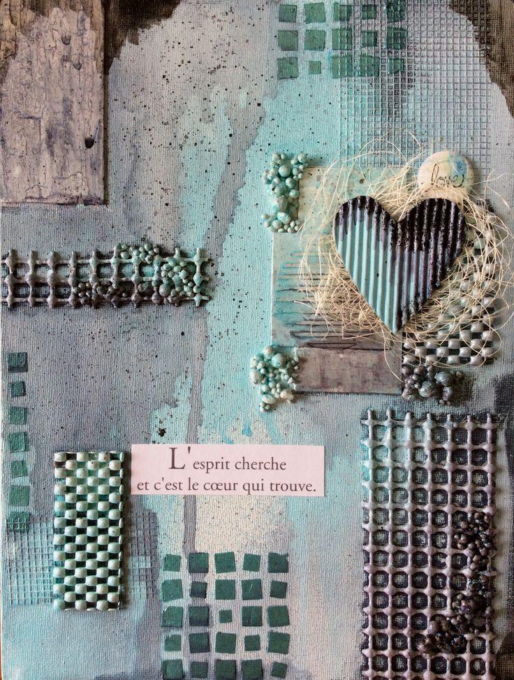 Canevas Mix-Média pour le Club Journal d'Art de Quebec - février 2018