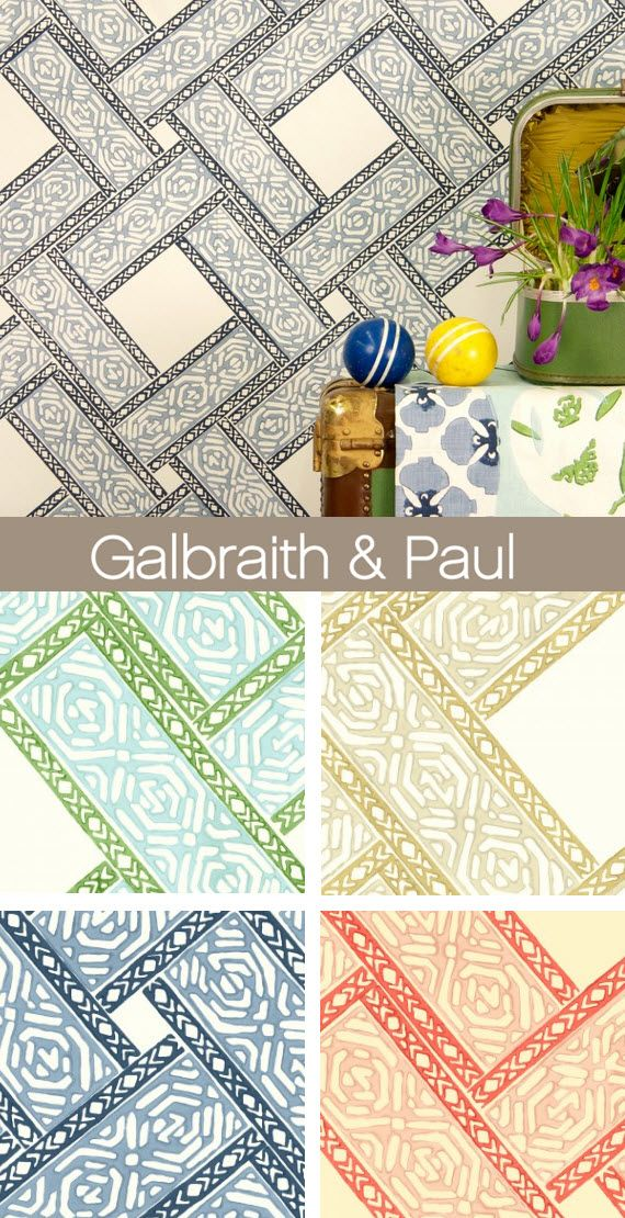 Galbraith and Paul Parquet Fabric and Wallpaper 2014