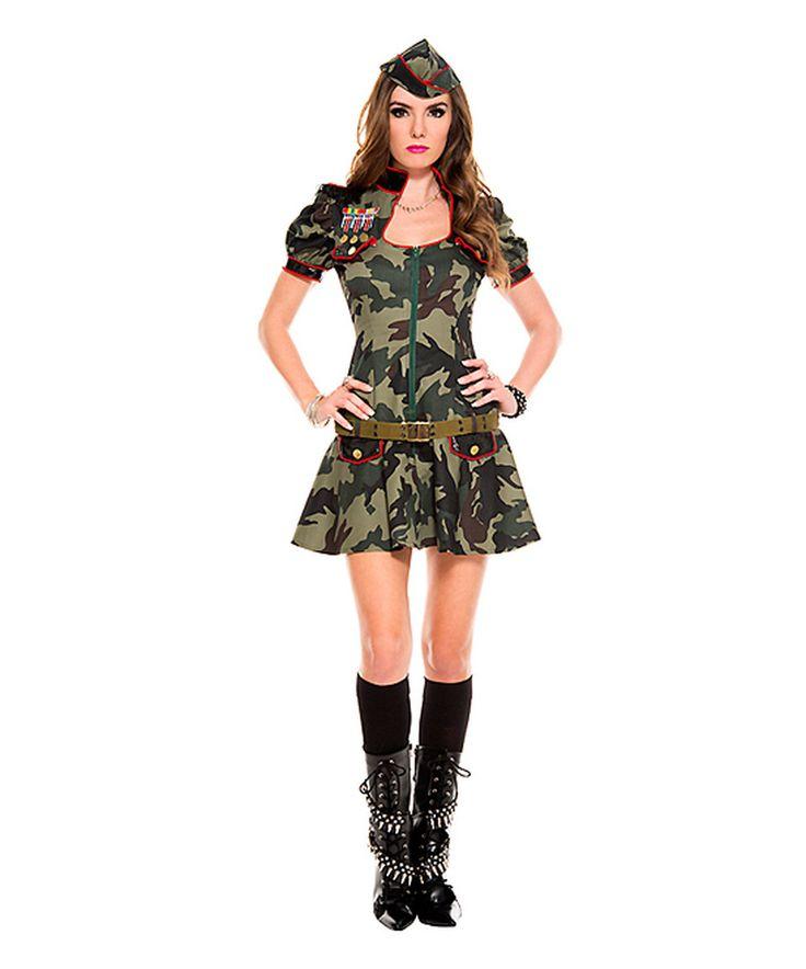 Loving this Green Camouflage Soldier Costume Set - Women on #zulily! #zulilyfinds