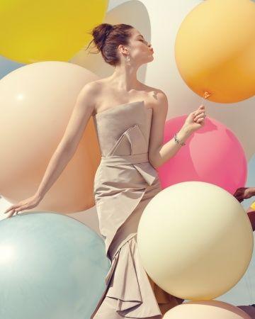 This J. Mendel gown is part sculpture, part wedding dress