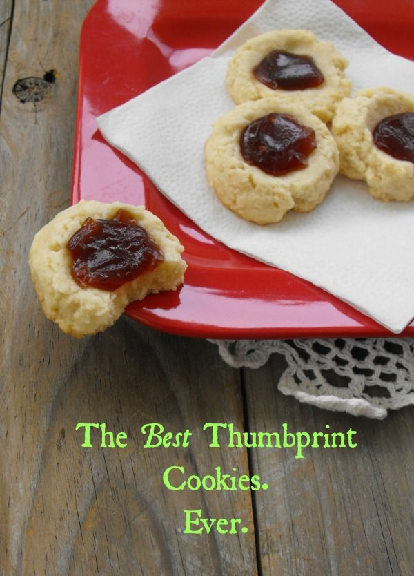 The Best Thumbprint Cookies Ever
