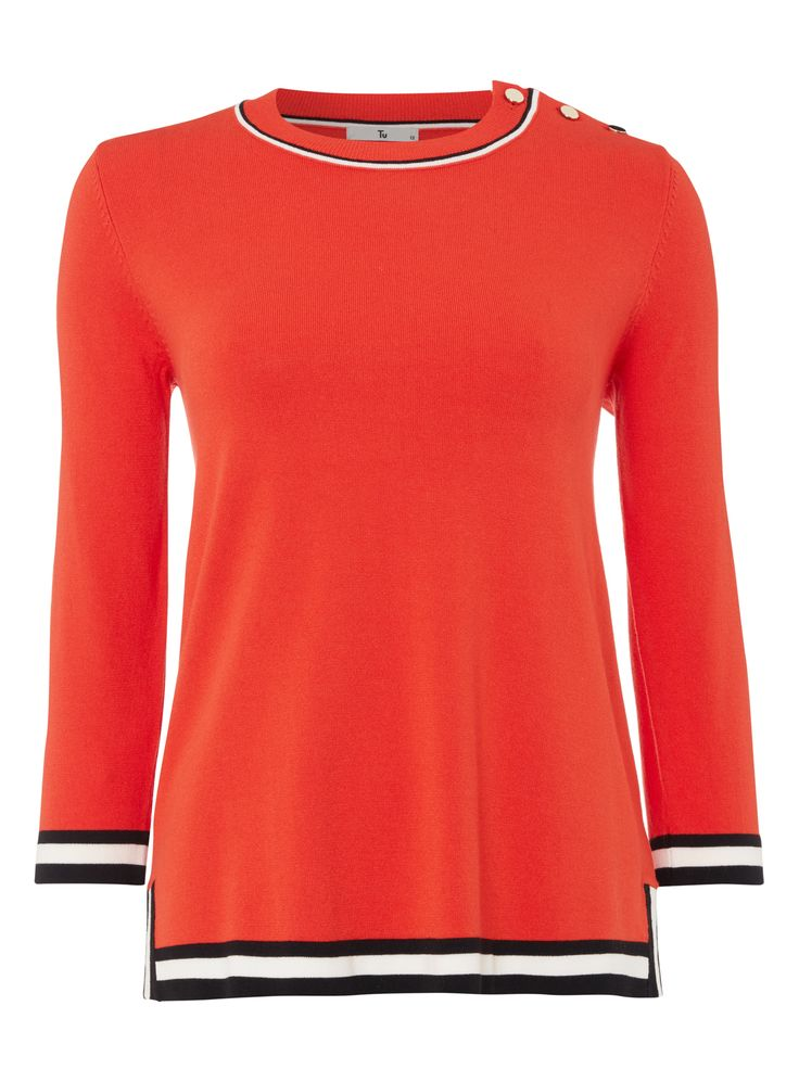 A essential addition to your off-duty wardrobe, this orange jumper features…