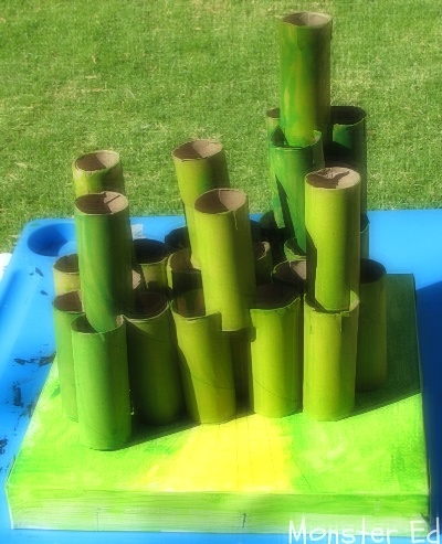 Recycling Craft:  Building the Emerald City from Wizard of Oz (Poppins Book Nook May theme: Wizards)
