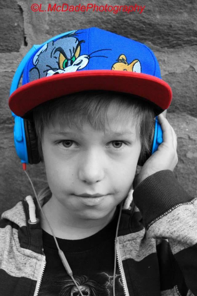 Children's Urban Portrait Photography with colour splash used