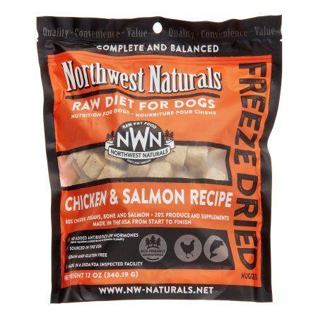 NW Naturals Raw Diet Grain-Free Chicken & Salmon Freeze Dried Dog Food, 12 Oz