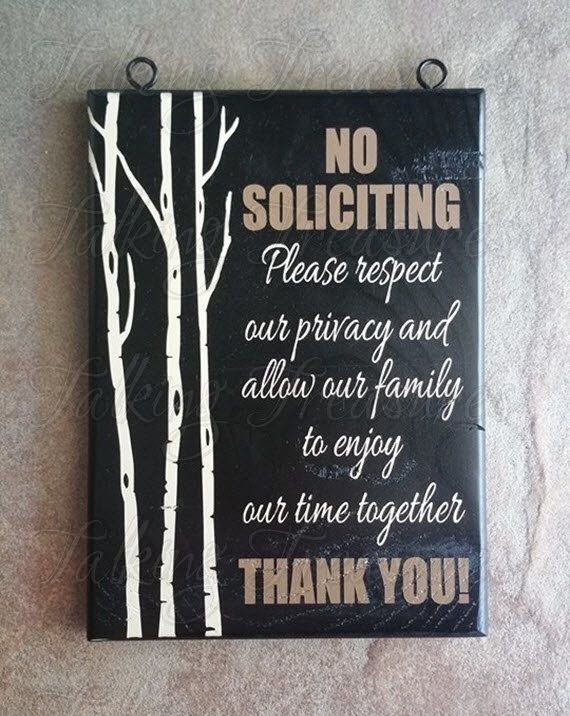 Love the way this custom order turned out. No solicitation sign by TalkingTreasures on Etsy