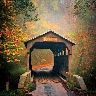 The South's Best Fall Color: Covered Bridge