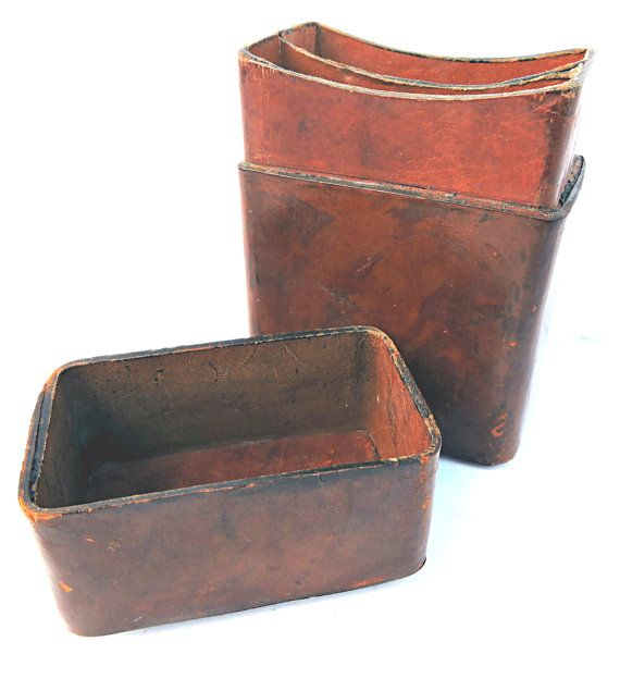Leather Playing Card Case Vintage Double Card Deck by Mainetrader