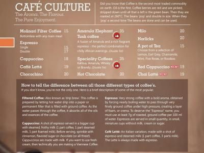 Cafe Culture - The Aroma, The Flavour, The Pure Enjoyment