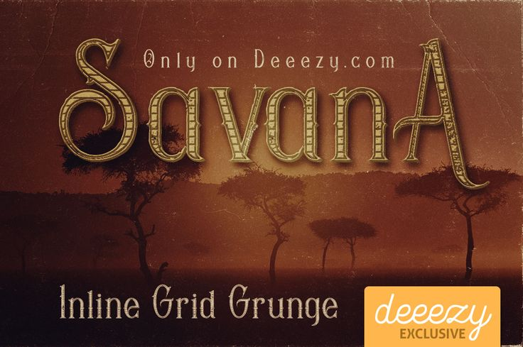 Savana Inline Grid Grunge Font – Deeezy – Freebies with Extended License