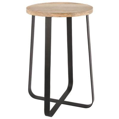 Krukje Ferro groot zwart met hout #Casabella #Wonen #Kruk #Furniture