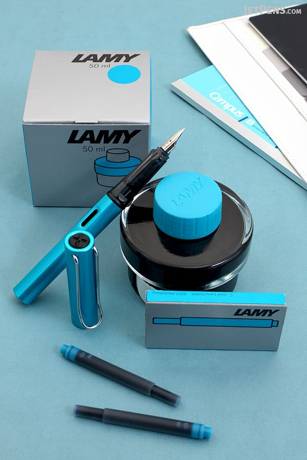 The new limited edition Lamy Al-Star Pacific Collection is here! This bright and tropical Al-Star fountain pen will brighten up any winter day. Matching Lamy Turquoise inks and cartridges are also available.