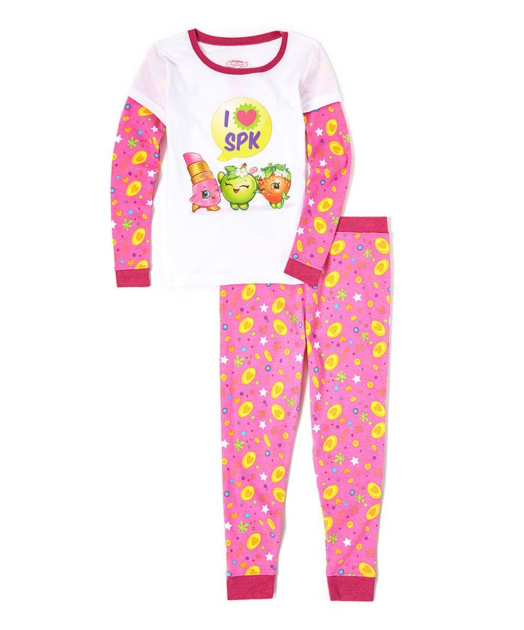 Look what I found on #zulily! 'I Love Shopkins' Pajama Set - Girls by Shopkins™ #zulilyfinds