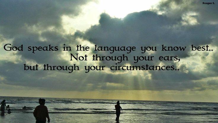 God's language..