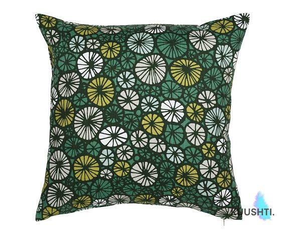 Green Throw Pillow Green Cushion Scandinavian Cushion