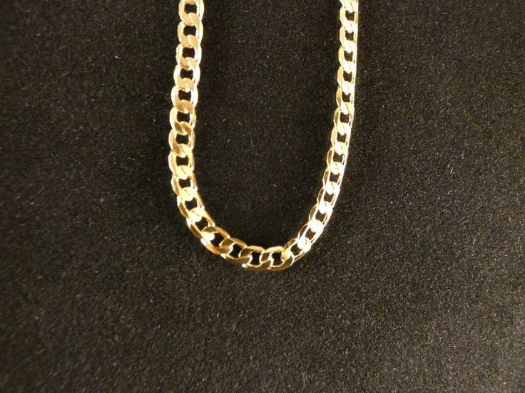 Halskette 24 Karat Vergoldet Panzerkette 50cm Valentinstag Unisex Kette