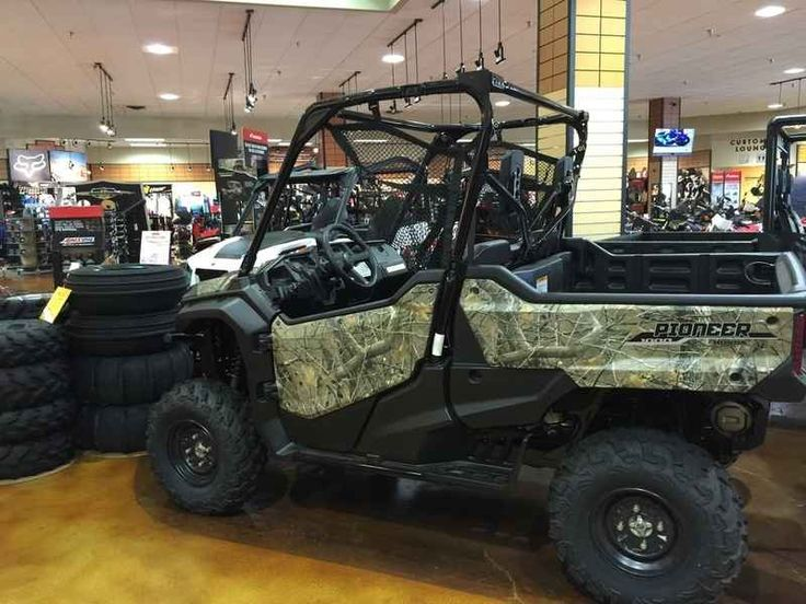 New 2016 Honda Pioneer 1000 EPS Honda Phantom Camo ATVs For Sale in Oregon. 2016 Honda Pioneer 1000 EPS Honda Phantom Camo, One the best utility vehicles known for dominating to outdoors! 2016 Honda® Pioneer® 1000 EPS Honda Phantom Camo® Not Just Bigger: Better. The outdoors is meant to be explored. The highest hills, the deepest canyons, and the farthest reaches of the forests all lie in wait. And now, we bring you an entirely new vehicle that can get you there. The all-new Pioneer®…