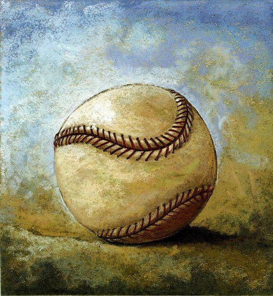 Custom Made Limited Edition Baseball Prints: Baseball by artist Ken Dubrowski on CustomMade.com