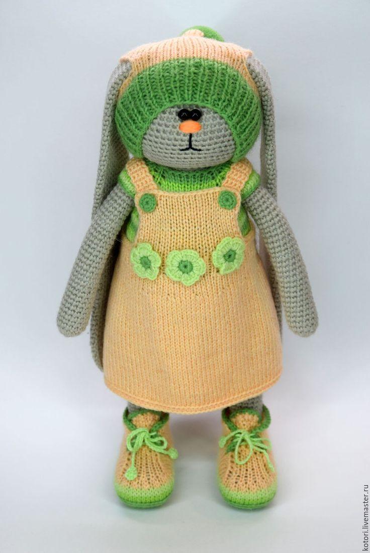 Купить Катюша. Авторская игрушка. - комбинированный, зайчик, игрушка, игрушка ручной работы, вязание, крючок