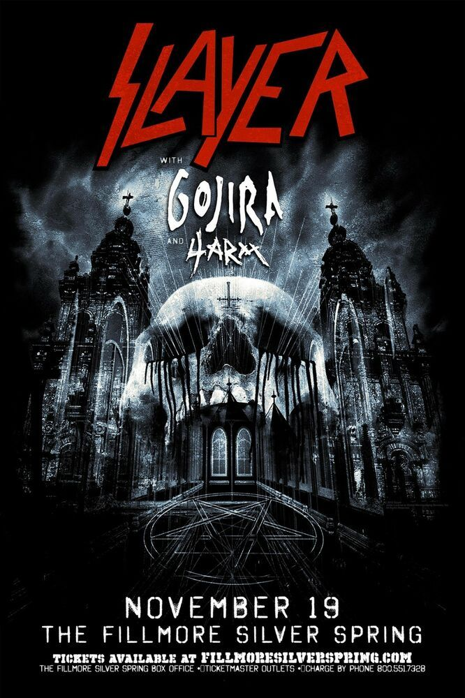 SLAYER, LAMINATED, ART POSTER 24x36in (61x91cm) #POSTER