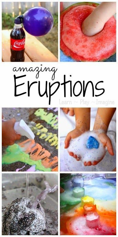 40 of the COOLEST ways to make eruptions - so many ways to make things fizz, pop, and bubble!