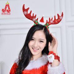 Рождественские рога заставку плюш длинный оголовье оголовье украшение рождества Кристмас платья рога
